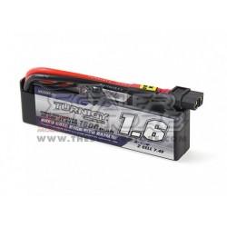 Turnigy 1600mAh 2S 30C Mini Hardcase Lipo Pack