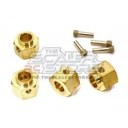 Integy Traxxas TRX-4 8mm Brass Hex Hubs (4)