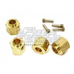 Integy Traxxas TRX-4 10mm Brass Hex Hubs (4)