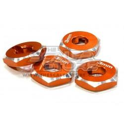Integy 12mm Wheel Hex Hub 3mm (4) ORANGE