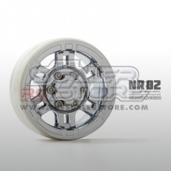 Gmade 1.9 NR02 Beadlock Wheels CHROME