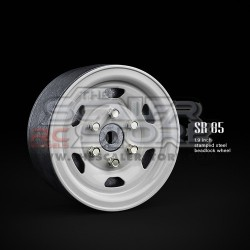 Gmade 1.9 SR05 Beadlock Stamped Steel Wheels WHITE