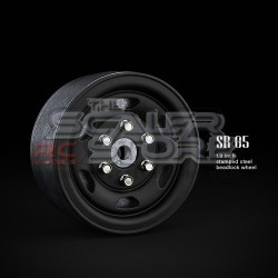Gmade 1.9 SR05 Beadlock Stamped Steel Wheels BLACK