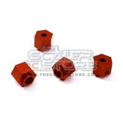 Integy Traxxas TRX-4 9mm Hex Hubs (4) RED