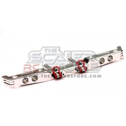 Integy Axial SCX/Honcho/Dingo Alloy rear Bumper SILVER