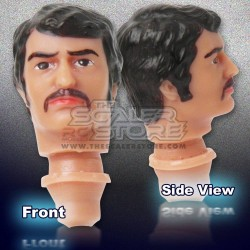 1/10 Man with Mustache Fully Painted Head