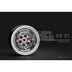 Gmade 1.9 VR01 Beadlock Wheels CHROME