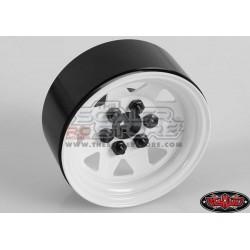 RC4WD 6 Lug Wagon Steel 1.9 Stock Beadlock Wheel WHITE(4)