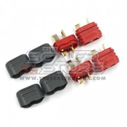 Yeah Racing T plugs for battery male/female with...