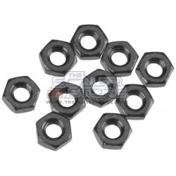 Axial Thin Hex Nut M3 BLACK (10)