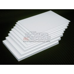 White Forex Panel 300x300mm thickness 1mm