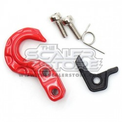 Yeah Racing Winch Hook Spring Loaded RED