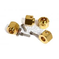 Integy Traxxas TRX-4 12mm Brass Hex Hubs (4)