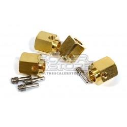 Integy Traxxas TRX-4 13mm Brass Hex Hubs (4)