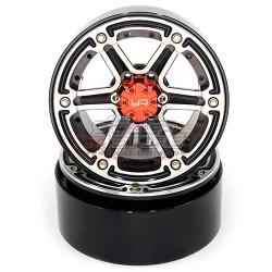 Yeah Racing 2.2 Aluminum Beadlock 6 Spoke Wheel set (2)