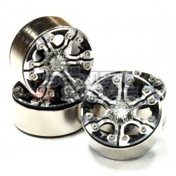 Integy 1.9 Alloy 6 Spoke Wheel (4) High Mass Type BLACK