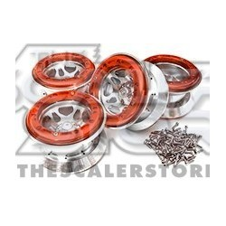 Integy 2.2 Alloy Beadlock XI 5S Wheel (4) RED
