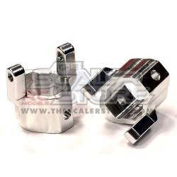 Integy Axial AX10/SCX/Honcho Castor block SILVER