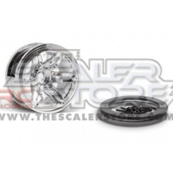 Axial 2.2 Rockster Beadlock Wheels CHROME