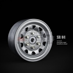Gmade 1.9 SR04 Beadlock Stamped Steel Wheels SEMIGLOSS...