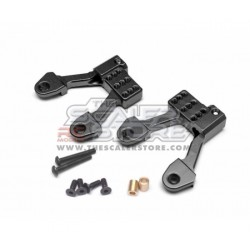 Boom Racing SCX2 Alloy Rear Shock Mounts BLACK