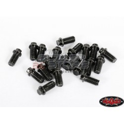 RC4WD Miniature Scale Hex Bolts M3x6mm (20) BLACK