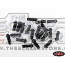 RC4WD Miniature Scale Hex Bolts M3x8mm (20) BLACK