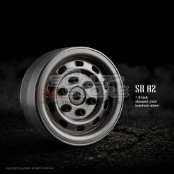 Gmade 1.9 SR02 Beadlock Stamped Steel Wheels UNCOATED STEEL