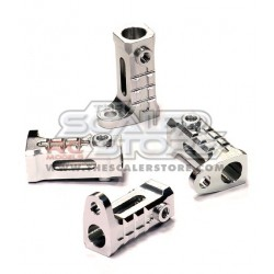 Integy Axial SCX/Honcho/Dingo Alloy Rock Rail Mount SILVER