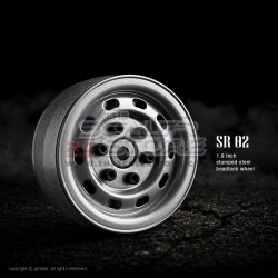 Gmade 1.9 SR02 Beadlock Stamped Steel Wheels SEMIGLOSS...