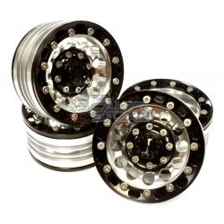 Integy 1.9 Alloy 12H beadlock Wheel (4) High Mass Type BLACK