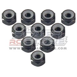 Yeah Racing M4 Aluminum Lock Nuts BLACK