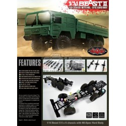 RC4WD The Beast II 6x6 Truck Kit