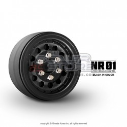 Gmade 1.9 NR01 Beadlock Wheels BLACK