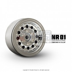 Gmade 1.9 NR01 Beadlock Wheels CHROME