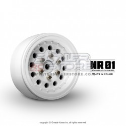 Gmade 1.9 NR01 Beadlock Wheels WHITE