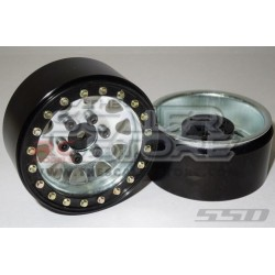 SSD D Hole 1.9 Steel Beadlock Wheels GREY (2)