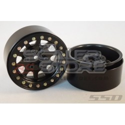 SSD D Hole 1.9 Steel Beadlock Wheels BLACK(2)