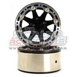 Xtra Speed 1.9 High-Mass Beadlock Alloy 8 Spoke wheel set...