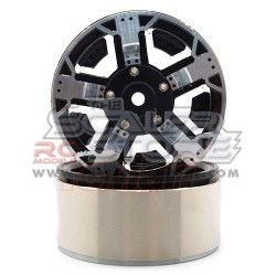 Xtra Speed 1.9 High-Mass Beadlock Alloy 5 Spoke wheel set...