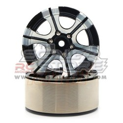 Xtra Speed 1.9 High-Mass Beadlock Alloy 6 Spoke wheel set...