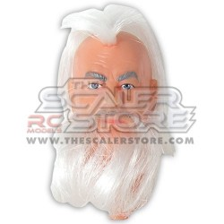 1/10 Old man with long gray hair Fully Painted Head