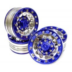 Integy 1.9 Alloy 12H beadlock Wheel (4) High Mass Type BLUE