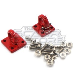 Yeah Racing Pintle hook & Lunette Ring RED