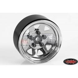 RC4WD 5 Lug Wagon Steel 1.9 Stock Beadlock Wheel CHROME(4)