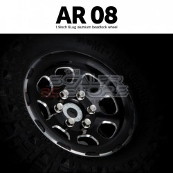 Gmade 1.9 AR08 6 Lug Beadlock Aluminum Wheels