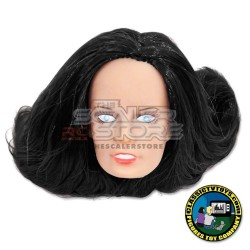 1/10 Black Hair Woman Fully Painted Head