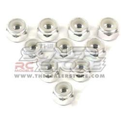 Yeah Racing M4 Aluminum Lock Nuts SILVER