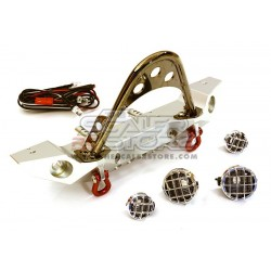 Integy Alloy Front Bumper with LEDs for Axial SCX SILVER