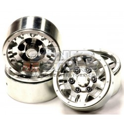 Integy 1.9 Alloy 5 Spoke Wheel (4) High Mass Type SILVER